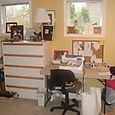 Jayne's sewing area before