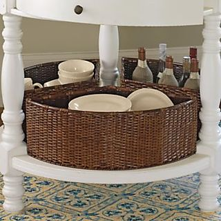 Ballard designs- baskets for round spaces!