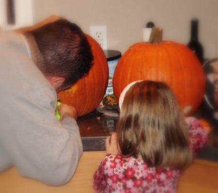 Halloween pumpkin carving 2008