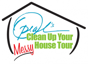 Oprah's clean up your house tour logo
