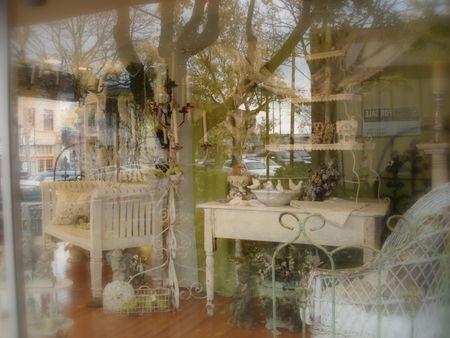 Holiday window camas antiques
