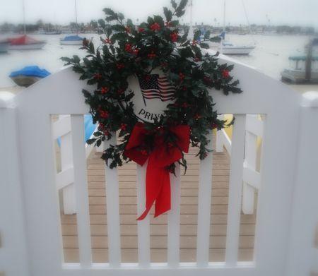 Balboa island dock wreath