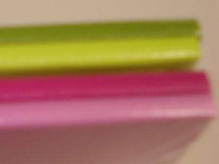 Moleskins pink and green