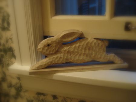 Bunny window holder