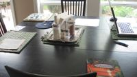 Piddly things -kitchen table before