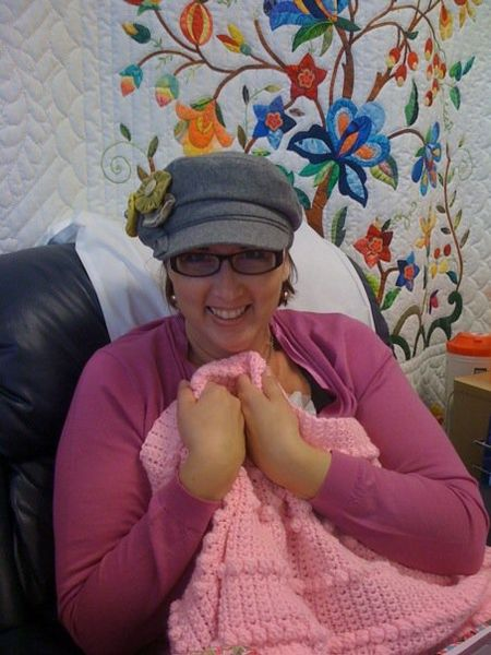 Chemo 7 pink blanket