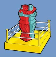 Rock em sock em hug
