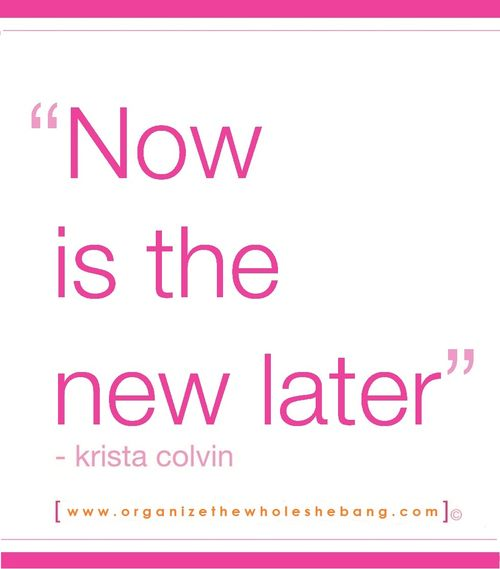Now is the New Later.kristacolvin