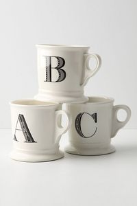 Monogrammed mug.anthropologie